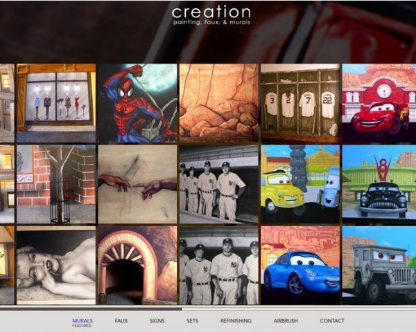 Една от галериите на сайта Creation Lee