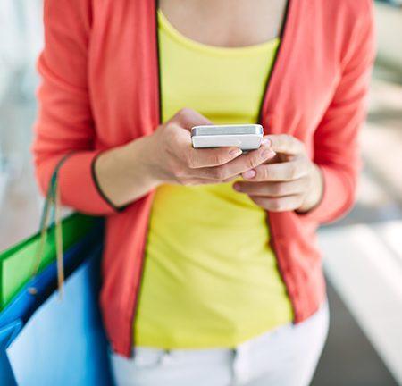 Пазаруване онлайн от телефон