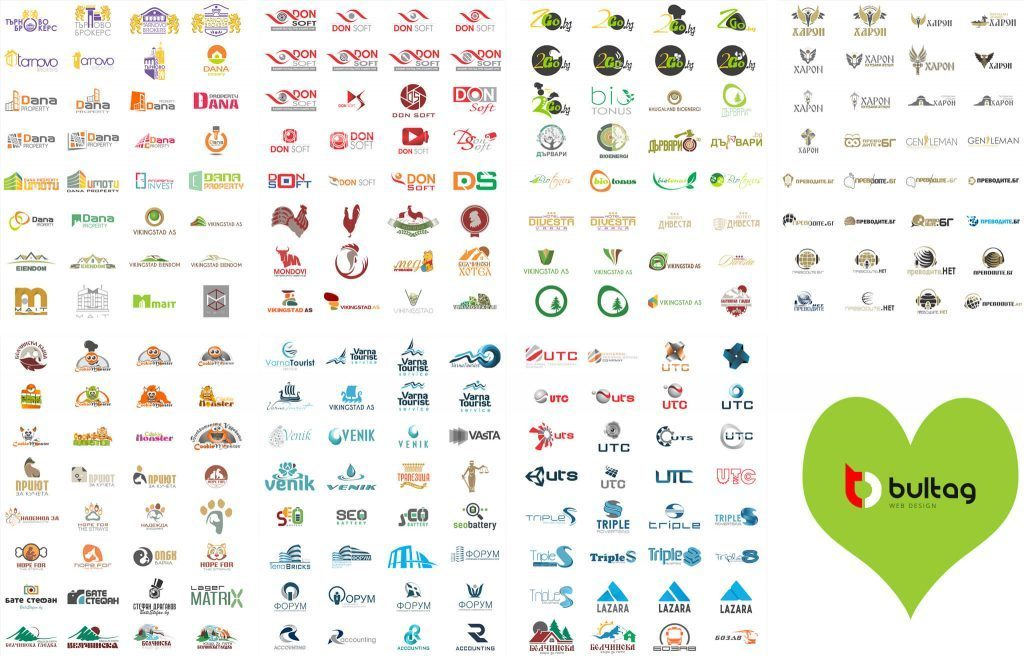 Лога и лого дизайн . изработка на BULTAG