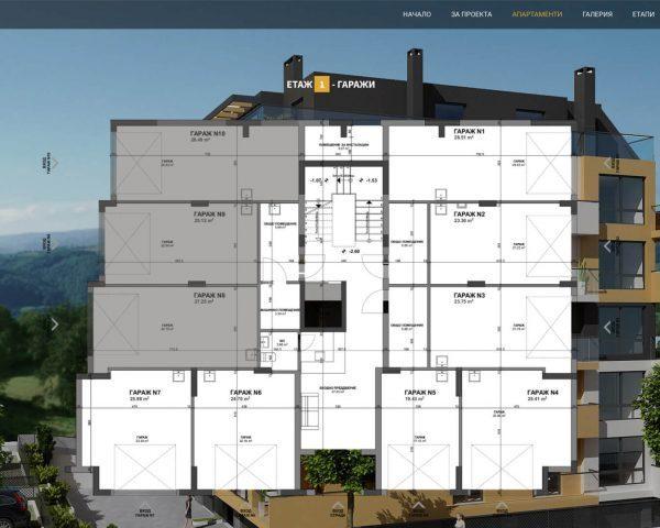 Уеб сайт Melody Homes - страница с апартаменти